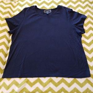 Karen Scott Navy Blue Shirt Size 3X